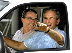 Colombia's President Alvaro Uribe had a close friendship with George Bush. Photo Source: Unknown