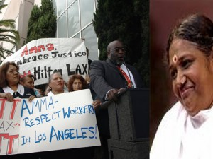 Amma Critics Protested In Front Of The Hilton LAX In 2007 & 2008