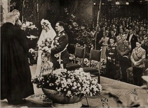 Hitler as best man while Reichbishop Müller presides