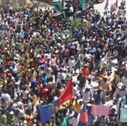 Protesters in Cap Haitien on Wednesday, September 11, 2012 (Photo: AlterPresse).