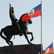 Sculpture of Haitian Independence hero General Jean-Jacques Dessalines, born September 20, 1758 (HPN).