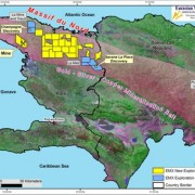 In April 2012 an EMX-Newmont joint venture and the Haitian government signed a Memorandum of Understanding that allows exploration drilling while a Mining Convention is being ratified to permit development. Under this new MOU, the  a gold prospect called Savane La Place is the first project selected for drilling. http://www.eurasianminerals.com/new/Haiti.asp