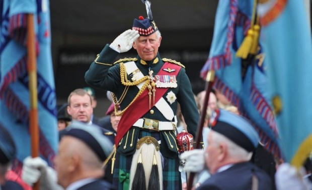 HRH Prince Charles Takes the Salute at the Armed Forces Day National Event Edinburgh